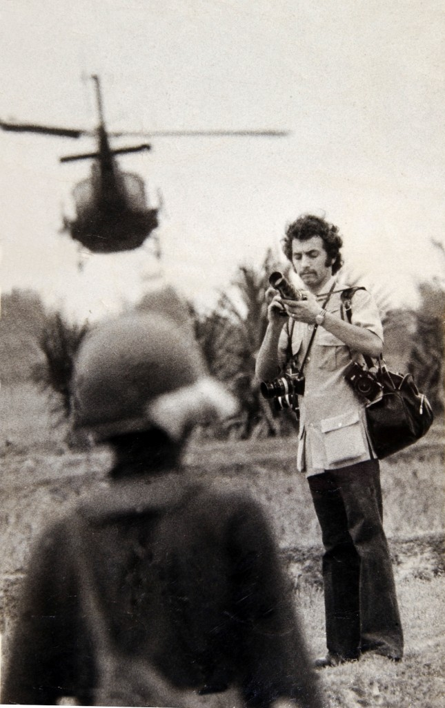 Peter Bregg in a rice paddy south of Saigon, South Vietnam  in 1973.