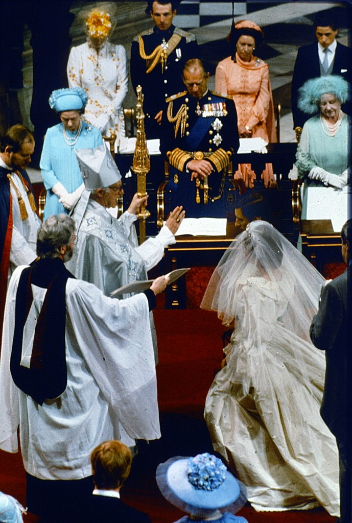 Prince Charles marries Lady Diana in St. Paul's Cathedral in 1981. Peter Bregg