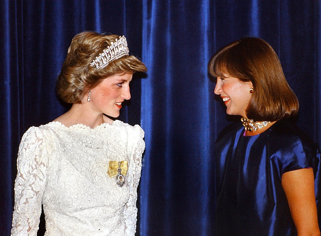 Princess Diana and Mila Mulroney in Vancouver during a Royal Tour in 1986. Peter Bregg